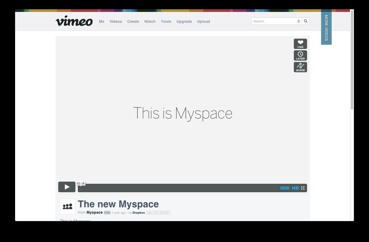 The new Myspace